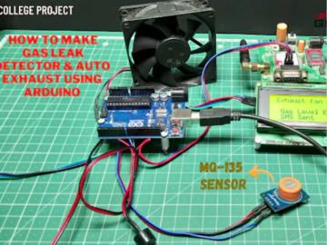 如何制作气体检漏仪和自动排气扇