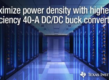 德州仪器推出业界首款可堆叠多至四个集成电路的新型DC/DC降压转换器