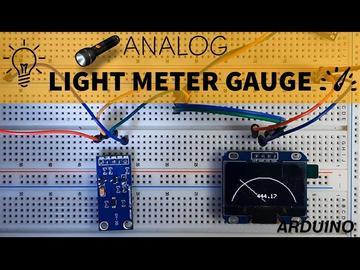 使用BH1750光传感器和Arduino制作测光表