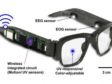 科学家打造出新型电子太阳镜:可追踪大脑、眼球等活动