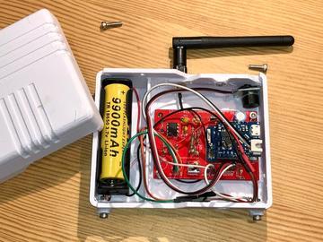 使用3.7v电池运行的IOT漏水检测器