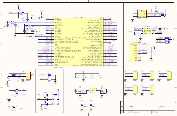 STM32F103RCT6原理图