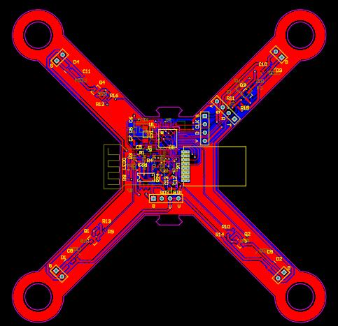 小四軸四翼無人機電路原理圖,PCB圖(STM32,mpu9250,帶氣壓傳感器)