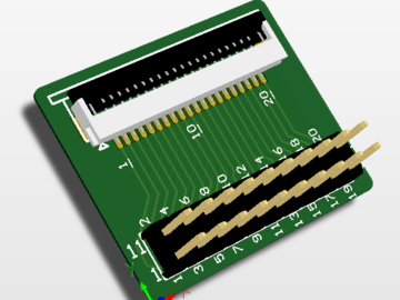 DSP下载调试用仿真转换头0.5/1.0mm 20P(pcb)