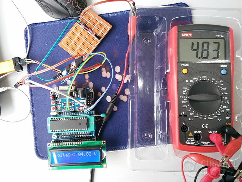 可测量30V以下的直流电压,简易51单片机电压表设计参考