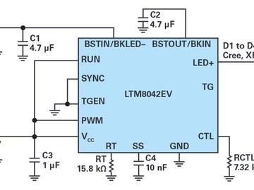 多功能LED驱动器LTM8042,轻松配置为三种拓扑