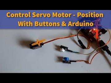 带按钮的Arduino控制伺服电机位置