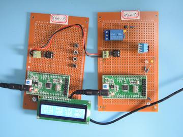 基于STM32单片机的智能大棚485上传温湿度光照检测补光设计-万用板-原理图+PCB图+程序48