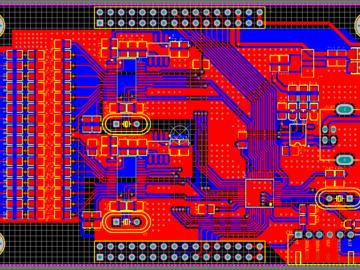 双ADS1256,16路24位模拟量高速采集