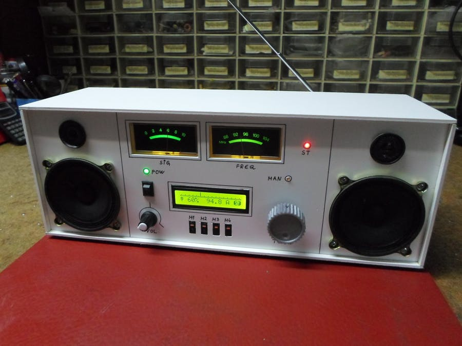 基于TEA5767模塊DIY復古外觀調頻收音機