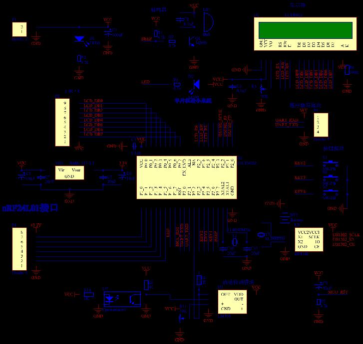 医院点滴无线监控设计-proteus仿真和代码