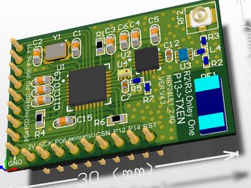 适合应用于各种2.4GHz产品设计的NRF24LE1+PAN+LAN核心板V4.3(pcb+原理图)
