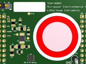 基于msp430的微功耗电化学气体传感器放大器参考设计