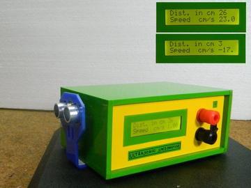 基于HC-SR04超声波传感器的测速计