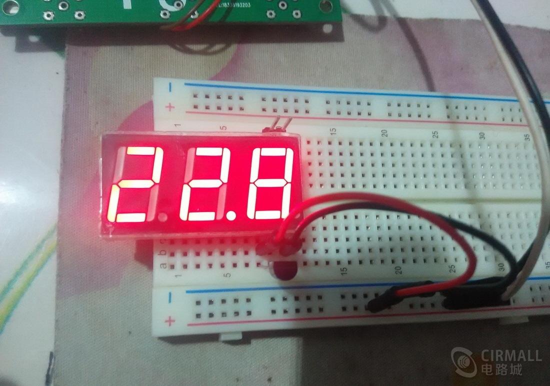 简易数码管显示温度计设计,简单易上手