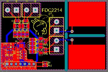 基于FDC2214测试版的完整版电路设计方案( 原理图 +PCB +驱动程序)