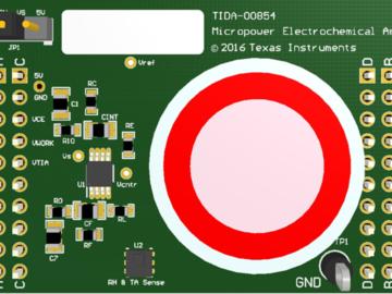 基于HDC1080与LPV802组合的微功耗电化学气体传感器放大器电路设计