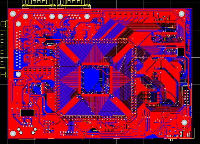 SAMSUNG ARM7T S3C4510B最小系統開發板硬件原理圖+PCB文件