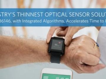 美信推出业界最薄的解决方案——MAXM86146内置双路光电检测器的光传感器方案