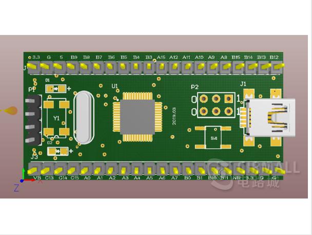 stm32最小系统,PCB原理图,3D,原理图封装