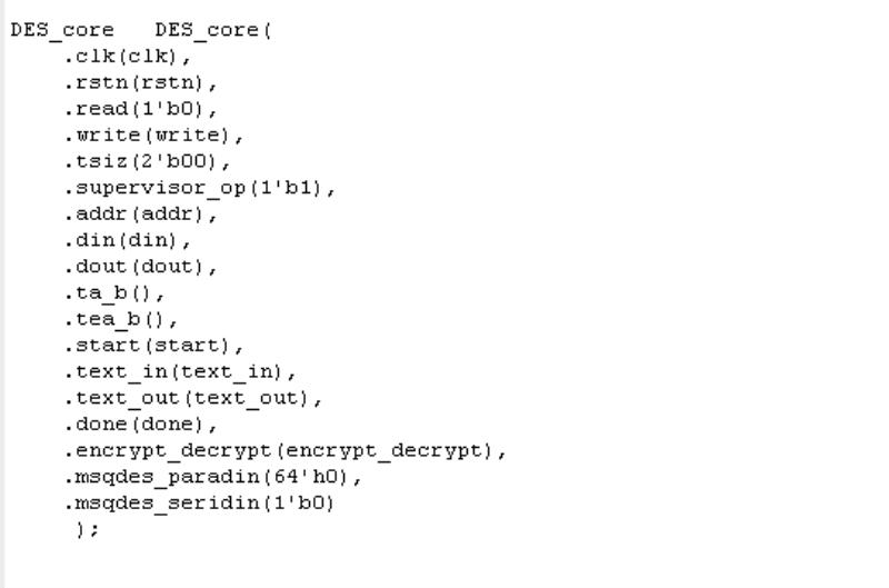 FPGA DES 3DES VERILOG IP 算法  加密解密算法 安全密碼算法 VERILOG源碼+測試激勵