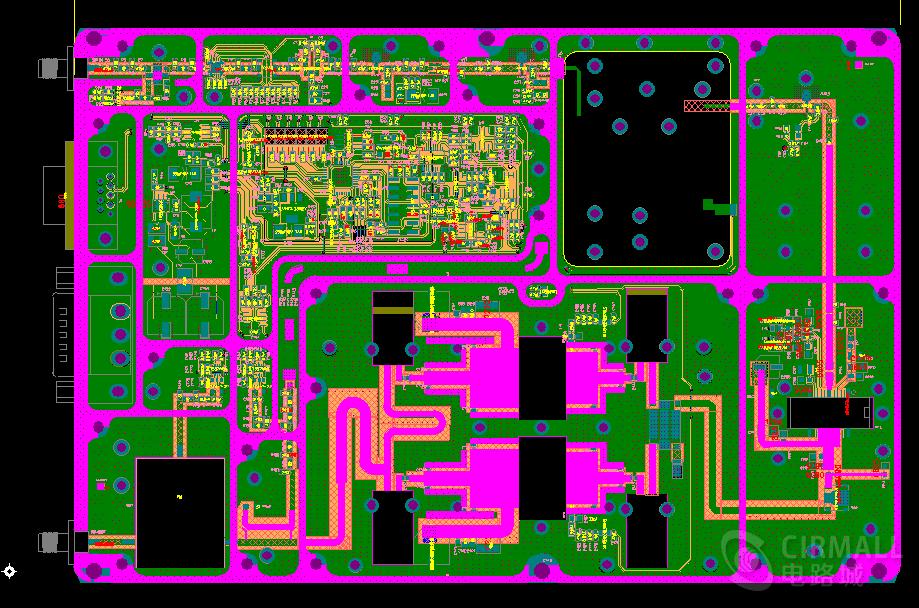 可量产GSM_50W射频功率放大器PCB设计