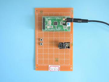 基于STM32单片机的餐厅取餐呼叫机WiFi主从通讯震动提醒设计-万用板-电路图+程序+论文61