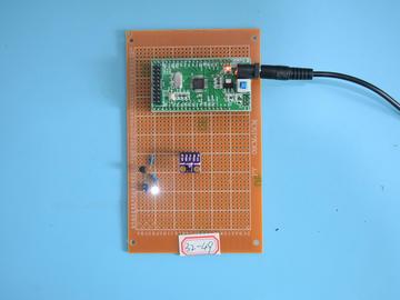 基于STM32单片机的智能手势控灯亮度亮灭控制智能台灯设计-万用板-原理图+PCB图+程序源码49