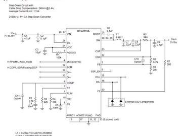 RTQ2115A-QA 让 USB 充电下行端口的设计简单化