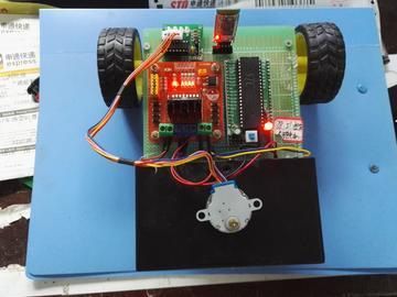 基于51单片机的蓝牙控车及步进电机升降设计(源码+电路图)