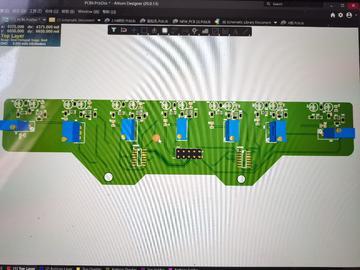 数字七路灰度循迹模块智能小车光敏颜色识别7路光电寻迹巡线模块