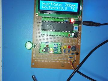 基于51单片机脉搏心率检测震动报警设计-(源码+电路图)