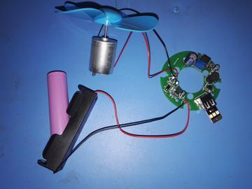 纯模拟电路5v输出风机发电充电宝设计(全套开发资料,原理图+PCB源文件)