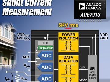 ADI推出业界首款全隔离式模数转换器 ADE7913