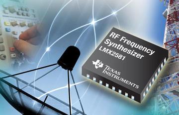 德州仪器推出最低相位噪声频率合成器