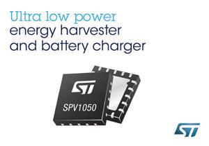 意法半导体(ST)先进能源收集IC SPV1050内置1.8V和3.3V稳压电器