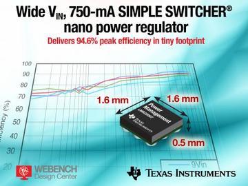 德州仪器推出12V、750mA DC/DC 电源稳压器