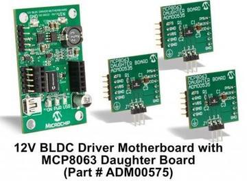 Microchip宣布推出全新电机驱动器 MCP8063