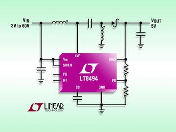 Linear推出具 7µA 静态电流的 2A、70V SEPIC / 升压型 DC/DC 转换器