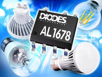 Diodes推出高效率单绕组电感 500V降压LED驱动器