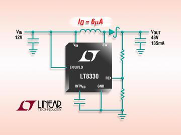Linear推1A、2MHz、60V 升压/SEPIC/负输出DC/DC转换器 具 6µA 静态电流