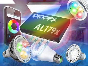 Diodes推出智能照明LED驱动器,为可调白色及彩色LED灯泡提供无闪烁调光功能