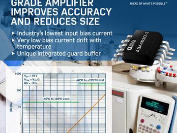 ADI推出静电计级放大器,缩小化学分析仪尺寸并提高精度