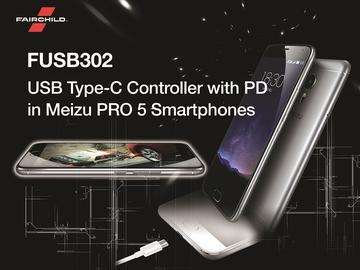 魅族的新型 PRO 5 智能手机 采用 Fairchild 的 USB Type-C 解决方案