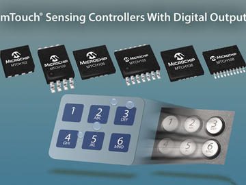 Microchip推出全新的mTouch触摸传感控制器,适合成本敏感的低功耗应用中