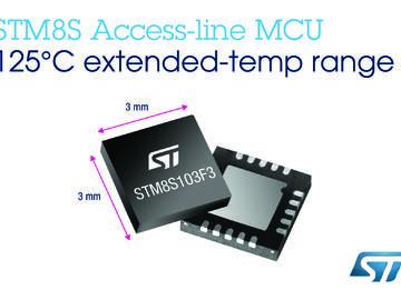 意法半导体(ST)STM8S基本型系列微控制器新增耐125°C高温的产品