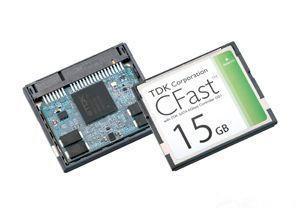 TDK推出支持串行ATA 6Gbps的高可靠性CFast卡CAS1B系列