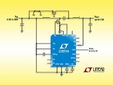 Linear 推出具双极性输出的 80V 同步四象限 DC/DC 控制器