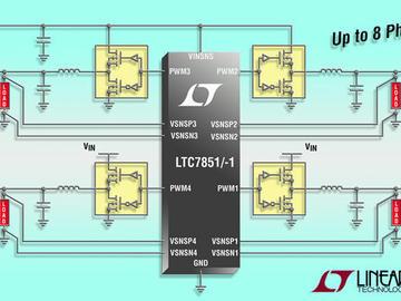 凌力尔特推出四输出多相降压型 DC/DC 控制器