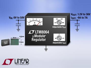 凌力尔特推出降压型 DC/DC 微型模块 (µModule®) 稳压器 LTM8064